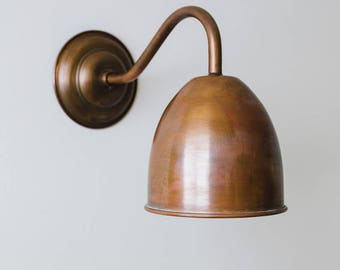 Humphrey Aged Copper Wall Light