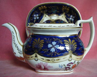 Mrs. Bowring Teapot And Stand c.1820 Antique