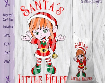 Elves svg, Christmas elf svg, Santa's little helper svg, Santa sack svg, Christmas svg, kids svg, dxf cut file, scanncut, svg for cricut