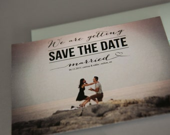 Custom Save the Date, Save the date, Save the date Invitation, Photography Save the Date