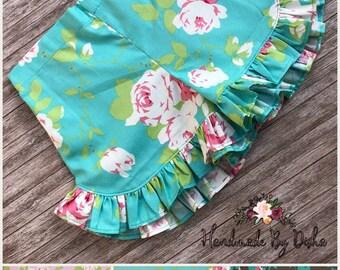 Girls Ruffle shorts, toddler ruffle shorts, ruffle shorties