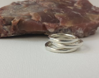 Argentium Silver Ring / Single Band Ring / Simple Band Ring / Wedding Band / Sizes 5.5; 6.5; 6.75 / Silver Ring / 486-487-488