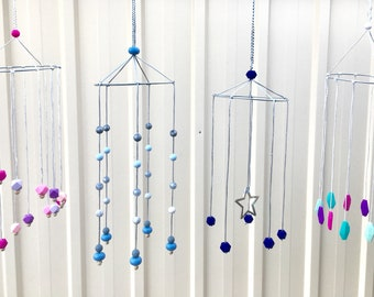 Decorative Nursery Mobile - Choose your own colours - Made to Order