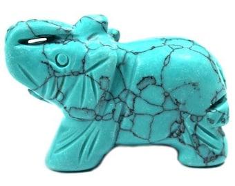 Turquoise 5cm elephant figurine