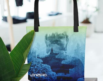 Lanesra Bhutan Mint Ombre Yoga bag