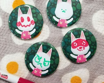 Blanca Dry Erase Magnets, no face cat, draw a face, cute ACNL magnet, pocket camp blanca cat, animal crossing fridge magnet, blank face cat