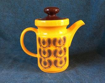 Vintage Waechtersbach Mid Century Modern Orange Coffee Pot