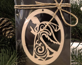 Wooden Angel Decoration. Christmas Ornament for Decoration - Laser Cut