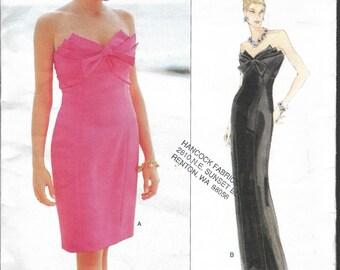 "Vintage 1995 Vogue 1570 Victor Costa Dress Sewing Pattern Size 6-8-10 Bust 30 1/2""-31 1/2""-32 1/2"" UNCUT"
