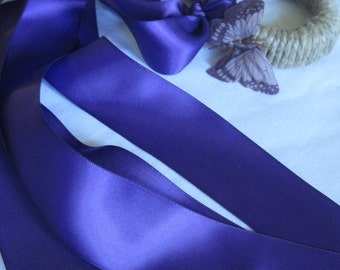 Kids Dark Purple Ribbon Streamer