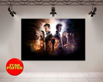 Doctor Who, Day of the Doctor, Doctor Who canvas, Matthew Smith, David Tennant, BBC, Doctor Who wall art, Doctor Who print, Doctor Who art