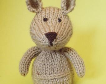 Kangaroo Toy Knitting Pattern (PDF)