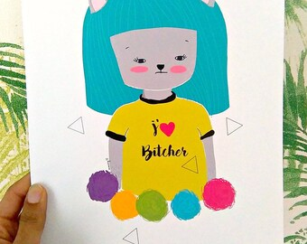 Print -J'adore Bitcher-