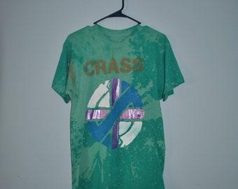 CRASS Bleached T-shirt - S/M