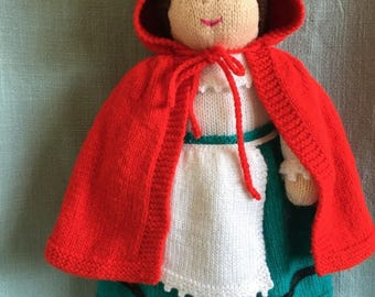 PDF Knitting Pattern - Miss Crolly, an Irish Dolly