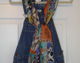 Vintage 1990s Overalls Denim Jean by Cherokee Vintage Retro Fashion Size Small