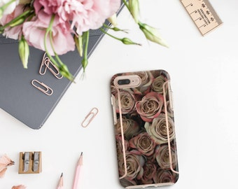 iPhone 8 Case iPhone 8 Plus Case iPhone X Rose Rustique and Rose Gold Case Otterbox Symmetry        PopSocket & WizGear Optional