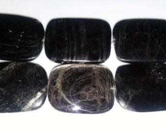 SALE! Hypersthene beads rectangle beads pendant beads 22x30mm beads semiprecious stone semiprecious beads grey stone beads hypersthene