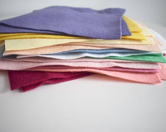 All Colours Felt Bundle - 24 sheets - 12 colours! Over 1 meter in total of felt.