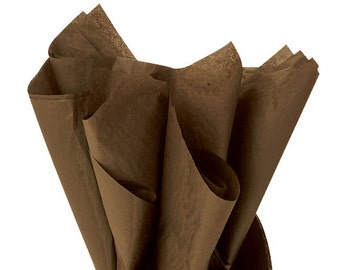 Chocolate Brown Tissue Paper . 20 x 30 inches . 24 sheets