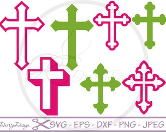 Cross SVG files, dxf files Cross, eps files, SVG files for cricut, Christian Cross, Clip Art, cut files for silhouette, Vector Graphics