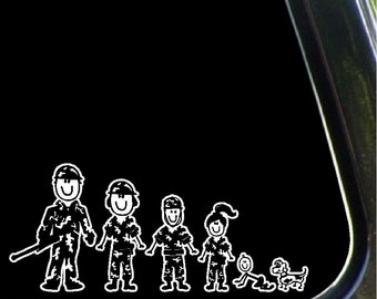 Army Family Car Decal Military Stick People Car Stickers