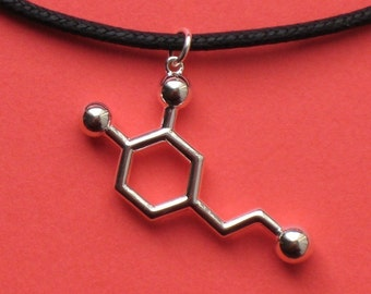 dopamine necklace - love and pleasure - in solid sterling silver