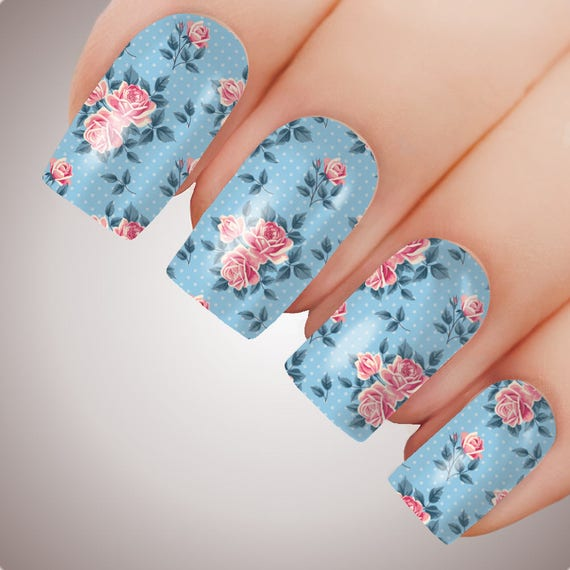 Shabby Chic Rose - ULTIMATE COLLECTION - Full Nail Decal Water ...