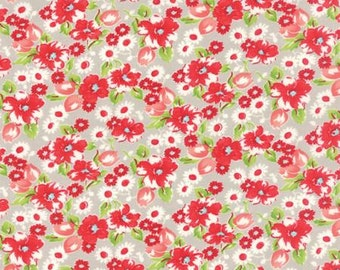 Fabric by the Yard - Little Ruby by Bonnie and Camille - Little Swoon Grey