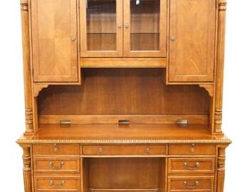 "HEKMAN Mahogany 73"" Computer Desk with Storage Credenza 6-1472 / 6-1473"