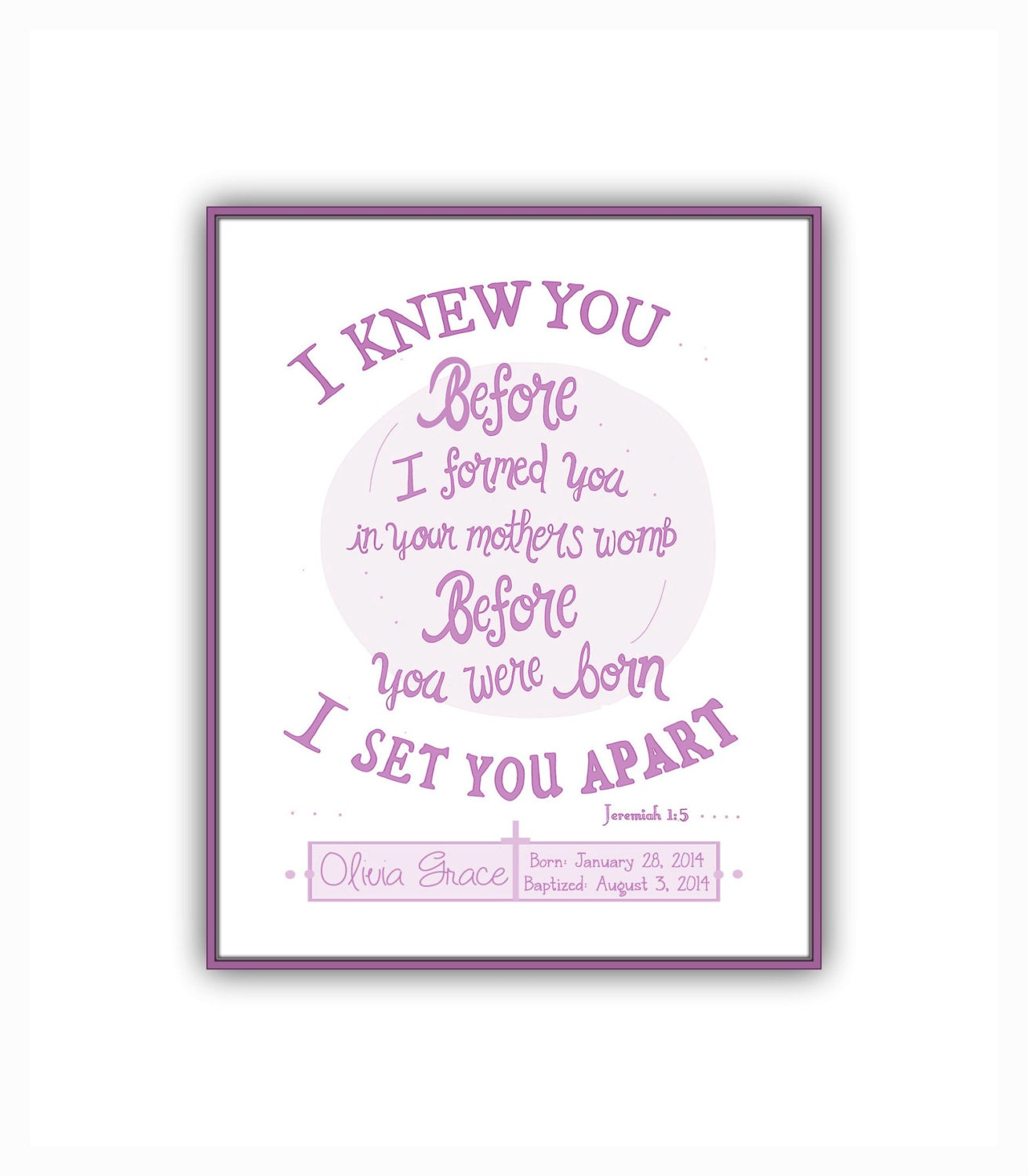 Bible Quotes For Girls New Baby Girl Gift Instant Download Personalized Baptism