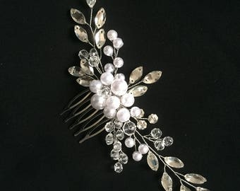 Bridal hair comb Wedding hair comb Pearl bridal comb Rhinestone hair comb Crystal hair comb Bridal comb Wedding comb Bridal hair accessories