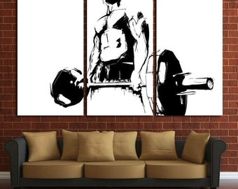 Gym Wall Art Fitness Motivation Workout Crossfit Decor Print