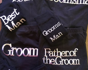Mens Bridal Party Black Underwear Trunks - Many Texts Available