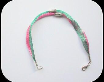 Double Row Bracelet ~ Bracelet * Pink * ~ Bracelet * Green * ~ Double Refined Bracelet