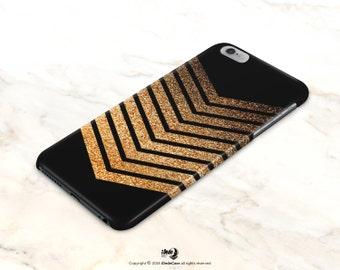 Chevron iPhone 6 Case Glitter iPhone 5 Case Glow Print iPhone 5s Case Golden Glitter iPhone 6s Case Samsung Galaxy s5 case Note 5 Case
