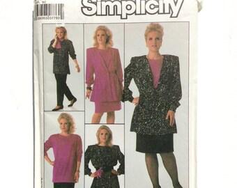 Simplicity 8924, Women's Jacket, Top, Pants, Skirt Pattern, Plus Size Pattern, Size 32W, Vintage Uncut Pattern