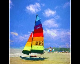 Beach Art Painting,St. Simons Island,SSI Beach Painting,Beach Canvas Painting,Beach Art Print,Beach Wall Art,Beach Decor,