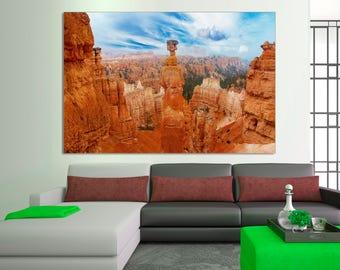 landscape Canvas Print, Grand Canyon Photo, Grand Canyon Print, Grand Canyon Arizona, Landscape print for interior design. Wall art, decor.