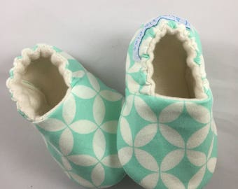 Baby girl slippers, baby shoes, baby shower, baby shower gift, moccs, crib shoes, soft sole  shoes, organic baby shoes, rubber sole option