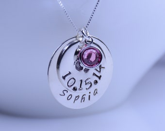 New mother gift, Baby shower gift, New mom necklace