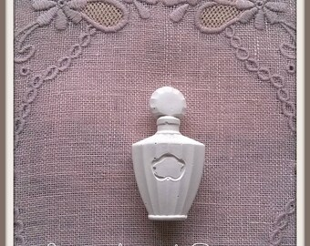 Plaster decorative perfume bottle