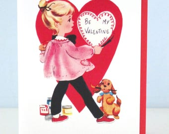 Vintage Style Valentine Greeting Card Artist by writeables