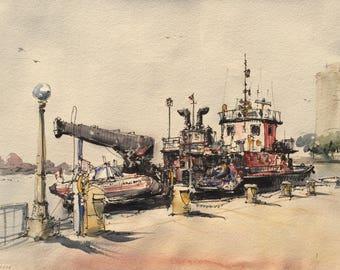Toronto Waterfront Tugboat