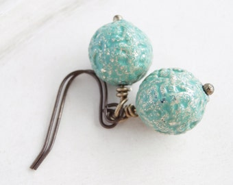 Garden Party - Vintage délicate perles Boucles d'oreilles