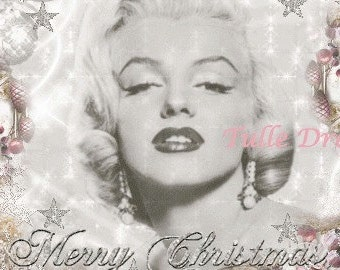 Marilyn Glittery Glamourous Silver and Pink Stars Holiday Christmas Cards (set of 10)