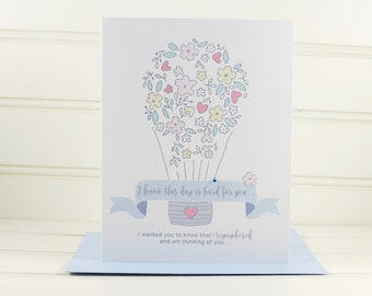 Empathy Card, Infertility Card, Memorial Card, Break Up Card, Divorce Card, Death Anniversary Card, Sympathy Card, Encouragement Card, Loss
