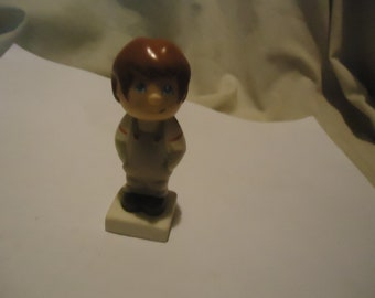 Vintage 1984 Tyco Young Boy In Overalls Toy Figure, Made In Thailand collectable
