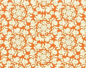 Petite Henna Garden in Orange from Strawberry Moon by Sandi Henderson for Michael Miller Fabrics