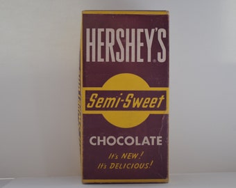 Hershey's General Store Rare Item 46 Semi-Sweet Chocolate Bar Box Originally Contained 24 Bars for Resale Made in U.S.A. Vintage Advertising